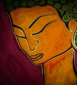 buddha golden contemplation